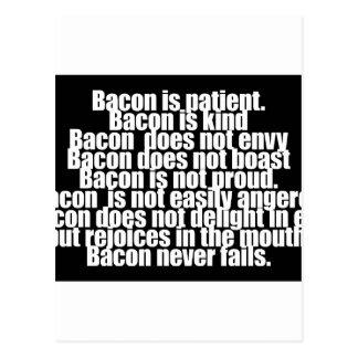Funny Bacon is Kind parody Postcard