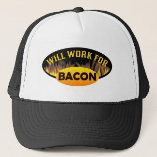 Funny Bacon Logo Trucker Hat