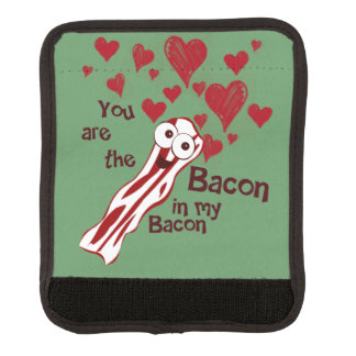 Funny Bacon Lovers Luggage Handle Wrap