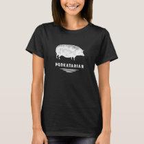 Funny Bacon Lover's Vintage Pig - Porkatarian T-Shirt