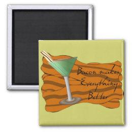 Funny Bacon Martini Magnet