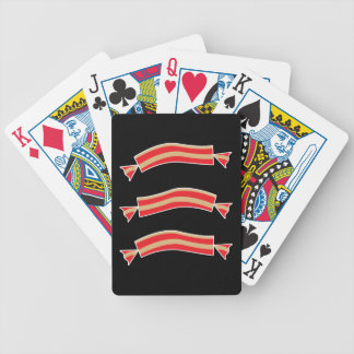 Funny Bacon Meat Candy Treats Bicycle Playing Cards