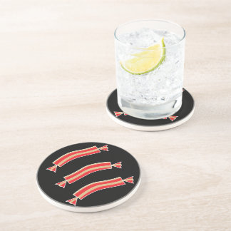 Funny Bacon Meat Candy Treats Drink Coaster