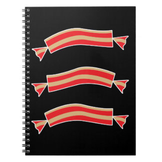 Funny Bacon Meat Candy Treats Notebook