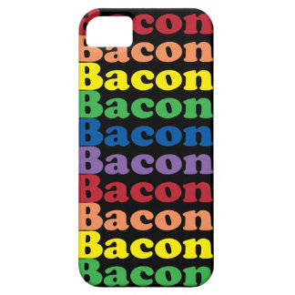 funny bacon rainbow colors text iPhone SE/5/5s case