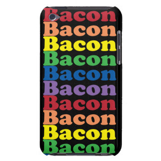 funny bacon rainbow colors text iPod touch cover
