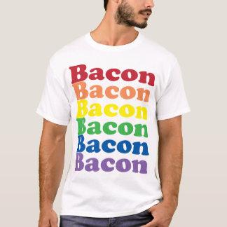funny bacon rainbow colors text T-Shirt