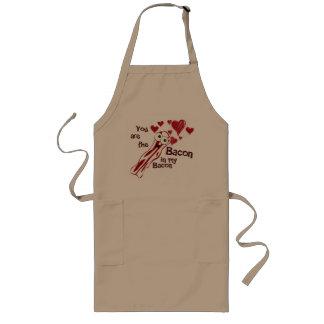 Funny Bacon Valentine's Apron