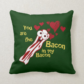 Funny Bacon Valentine's Pillow