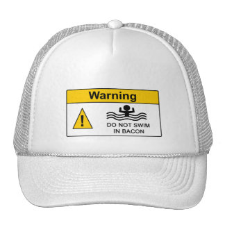 Funny Bacon Warning Hat