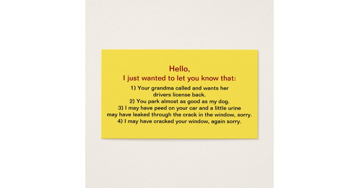 Insult Business Cards & Templates | Zazzle