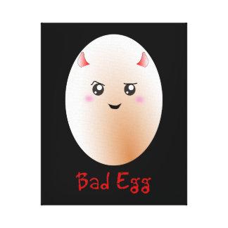 Funny Bad Egg Canvas Print
