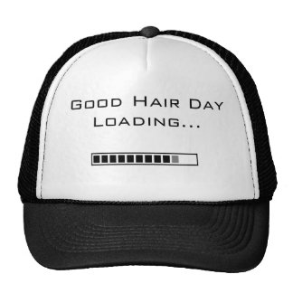 Funny Bad Hair Day Loading... Hat