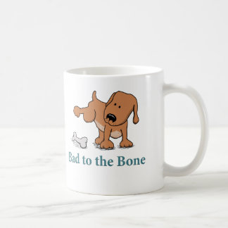 Funny Bad to the Bone Dog Classic White Coffee Mug