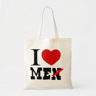 funny bag,i love men,i love me, tote bag
