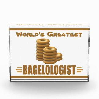 Funny Bagel Baker Acrylic Award