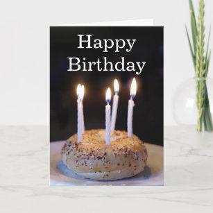 Funny Bagel Birthday Card
