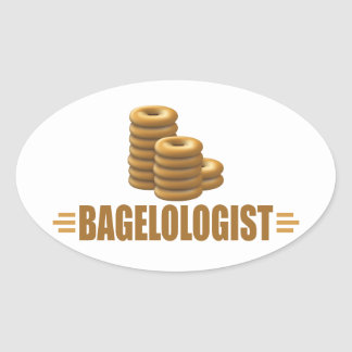 Funny Bagels Oval Sticker