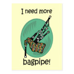 Funny bagpipe postcards