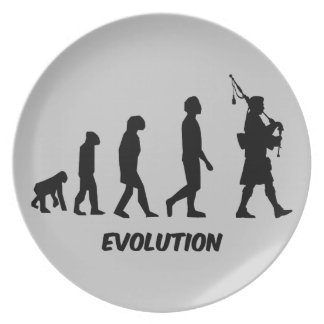 funny bagpipes melamine plate