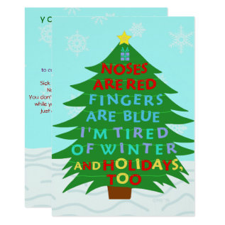 Funny Bah Humbug After Christmas Holiday Party Card at Zazzle