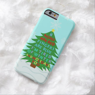 Funny Bah Humbug Christmas Poem Barely There iPhone 6 Case
