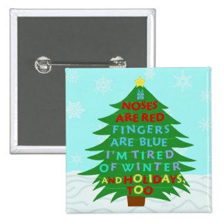 Funny Bah Humbug Christmas Poem Pinback Button