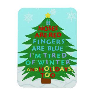 Funny Bah Humbug Christmas Poem Rectangular Photo Magnet