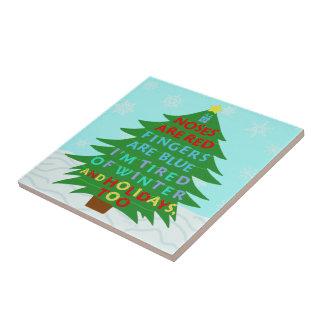 Funny Bah Humbug Christmas Poem Tile