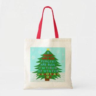 Funny Bah Humbug Christmas Poem Tote Bag