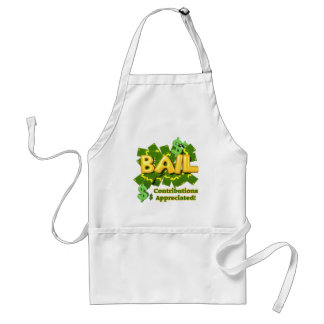 Funny Bail Money T-shirts Gifts Adult Apron