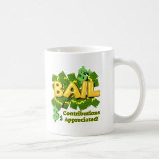 Funny Bail Money T-shirts Gifts Classic White Coffee Mug