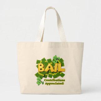 Funny Bail Money T-shirts Gifts Jumbo Tote Bag