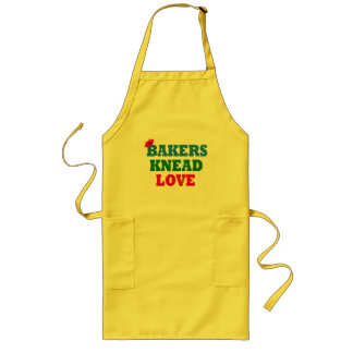 Funny Bakers Need (Knead) Love Long Apron