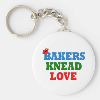 Funny Bakers Need (Knead) Love Keychain