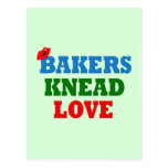 Funny Bakers Need (Knead) Love Postcard