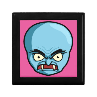 Funny Bald Blue Demon Gift Box