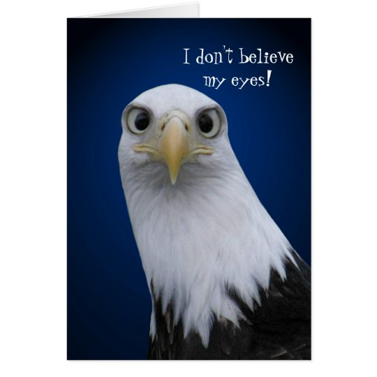 Funny Bald Eagle With Big Eyes Card Zazzle