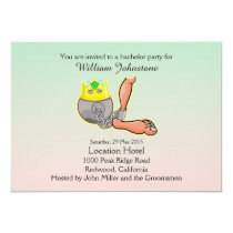 Funny Ball And Chain Bachelor Party Invitation