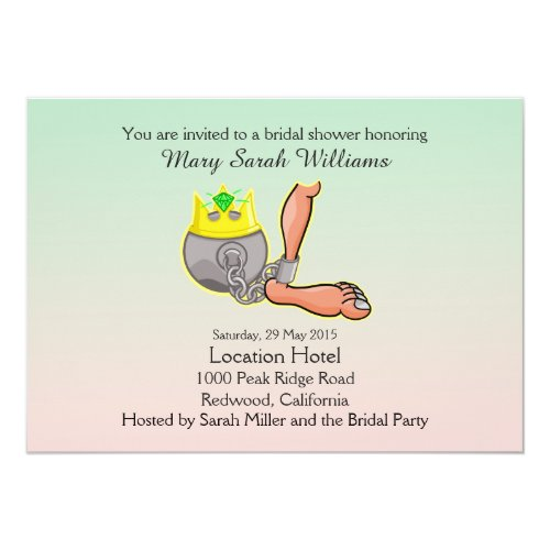 Funny Ball And Chain Bridal Shower Invitation