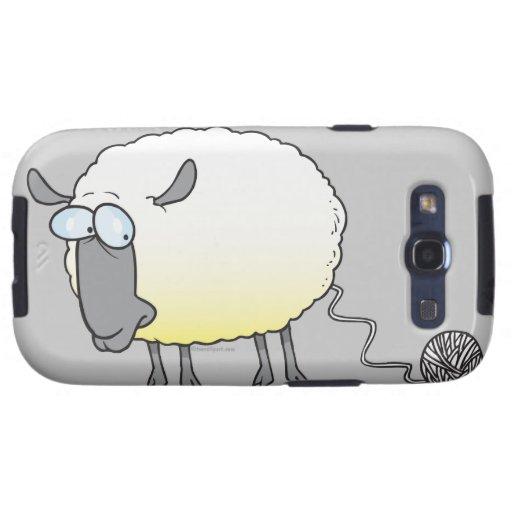 funny ball of yarn cloned sheep cartoon galaxy s3 covers