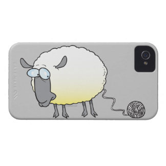 funny ball of yarn cloned sheep cartoon iPhone 4 Case-Mate cases