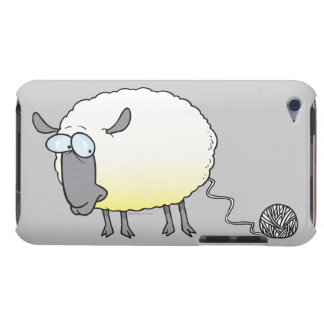 funny ball of yarn cloned sheep cartoon iPod Case-Mate cases