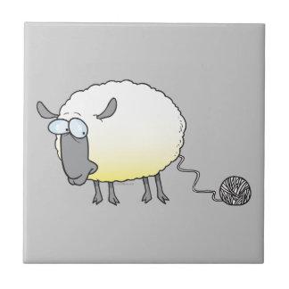 funny ball of yarn cloned sheep cartoon tiles