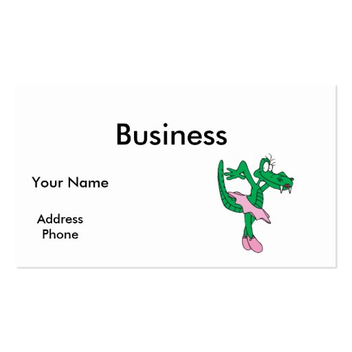funny ballerina alligator Double-Sided standard business cards (Pack of 100)