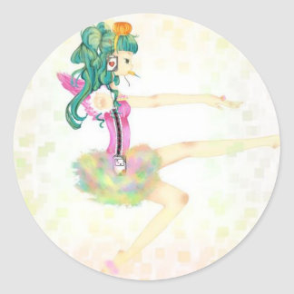 Funny Ballet Classic Round Sticker