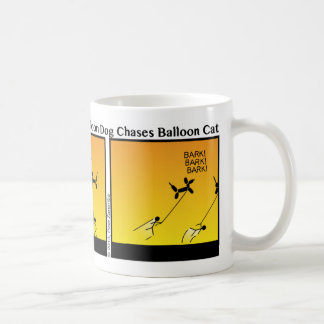 Funny Balloon Pet Chase Stickman Mug - 112