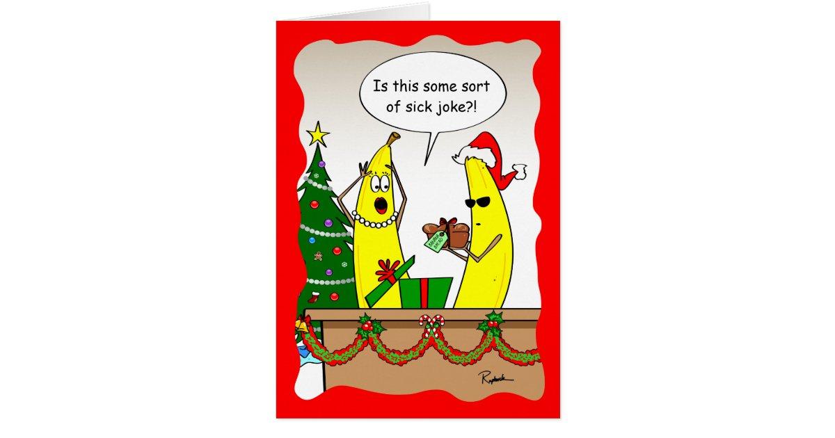 Funny Banana Christmas Card - Custom Holiday Cards | Zazzle
