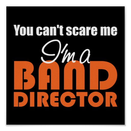Funny Band Director Poster