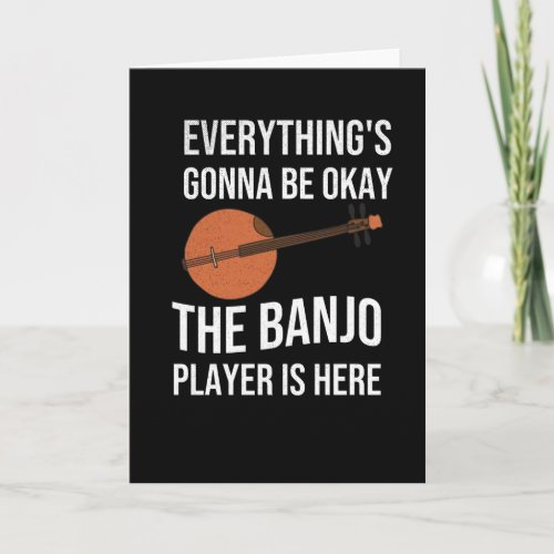 Funny Banjo Player Gifts | Bluegrass Lover Greeting Card